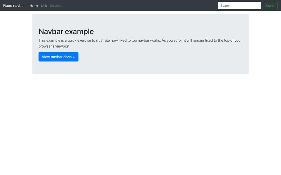 Navbar Design: Examples · Bootstrap Material Design